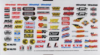 Traxxas Sponsor Decal Sheet