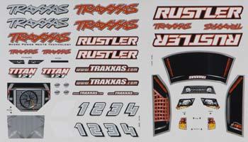 Traxxas Decal Sheet Rustler (2)