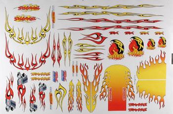 Traxxas Decal Sheet Flames