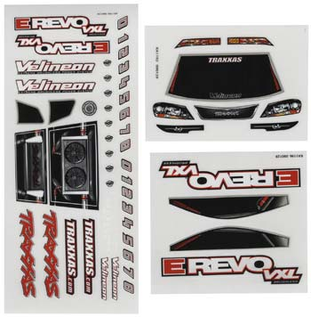 Traxxas Decal Sheets 1/16 E-Revo VXL