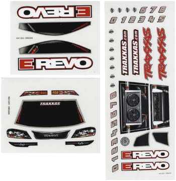 Traxxas Decal Sheets 1/16 E-Revo