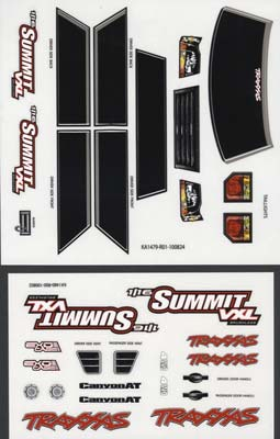 Traxxas Decal Sheets 1/16 Summit VXL