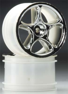 Traxxas Tracer Rear Wheels Chrome Bandit (2)