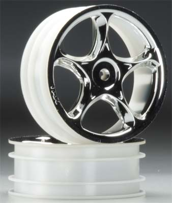 Traxxas Tracer Front Wheels Chrome Bandit (2)