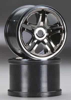 Traxxas Wheels SS 3.8 Black Chrome (2)