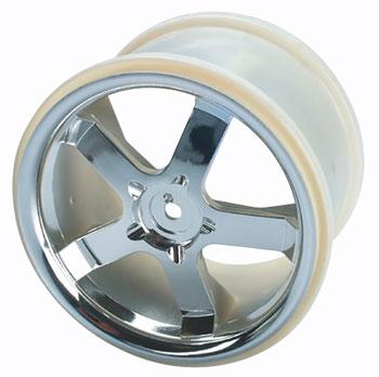 "Traxxas Chrome Wheels Hurricane 3.8\"" Mx/Revo (2)"