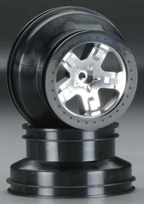 Traxxas Wheels Chrome Blk Beadlock Fr 2WD (2)