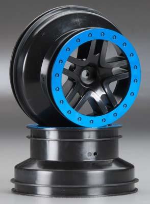 Traxxas Wheels SCT Split-Spoke Black 2WD Front (2)