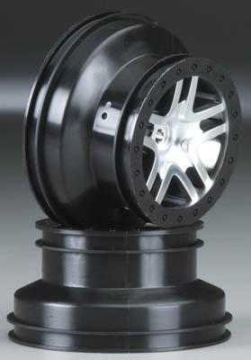 Traxxas Wheels SCT Split-Spoke Chrome Slash 4x4