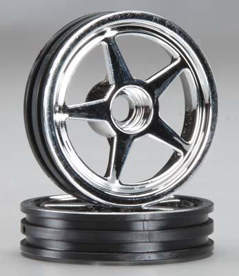 Traxxas Wheels 5-Spoke Chrome Front (2)