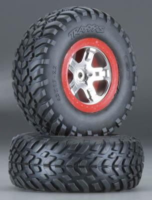 Traxxas S1 Mntd Racing Tire Re SLH Fr&R SLH (2)