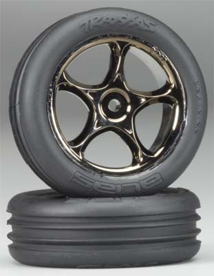 Traxxas Tires & Wheels Assembled Ribbed (2)