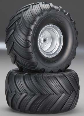 Traxxas Terra Groove, Dual Profile Tire And Wheel, Electric Rear