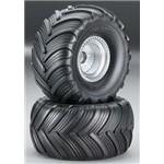 Tires/Whls Assmbld Glued Fr Monster Jam (2)