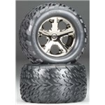 "2.8"" Talon Tire W/All-Star Bk Chrome Rr (2)"