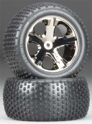 Traxxas Tires+Wheels Assmbld Elec Rear (2)