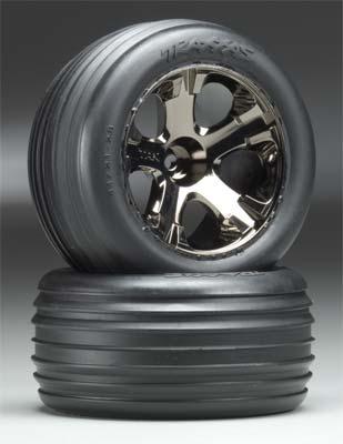 Traxxas Tires+Wheels Assmbld Elec Fr (2)