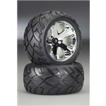 Traxxas Chrome All-Star Wheels, Anaconda Tires