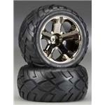 Traxxas Anaconda Tire W/All-Star Bk Chrome Nitro Rr/Elec F R 1 Lef
