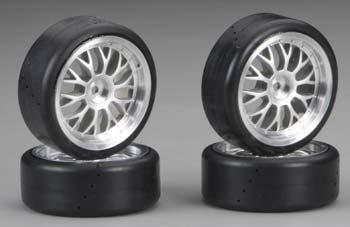 Traxxas Mounted Protrax Slick Tires (4)