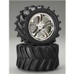 Traxxas Tires/Wheels Assm Maxx/Revo