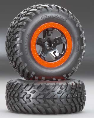 Traxxas Tires/Wheels Assembled (2)