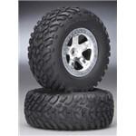 Traxxas Tires & Wheels, Assembled (Sla