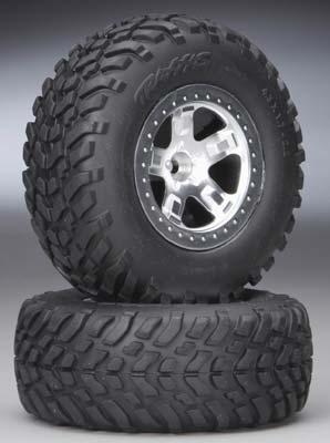 Traxxas Tires/Wheels Assembled Fr Slash (2)