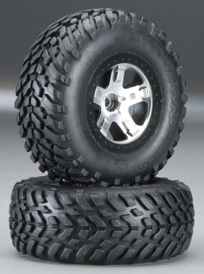 Traxxas Tire/Whl Assembled Blk Beadlock Fr (2)