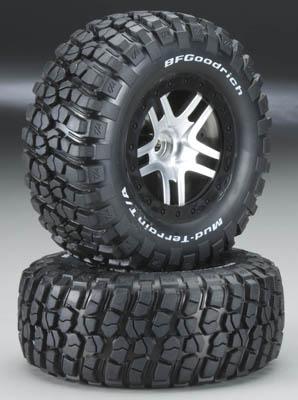 Traxxas Tire & Wheel Assy, Glued (Sct