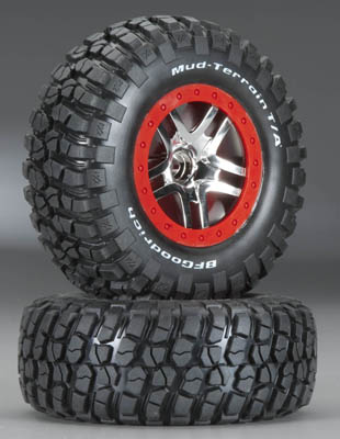 Traxxas Tire & Wheel Assy, Glued (S1 C