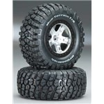 Traxxas Tire / Wheel Assembled Black Beadlock Front / Rear (2)