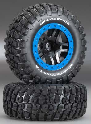 Bf Goodrich Mud Terrain Tires >> Traxxas Tire Wheel Assy Sct Split Bf Goodrich Mud Terrain Km2