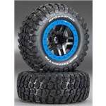 Traxxas Tire & Wheel Assy, Sct Split Bf Goodrich Mud Terrain Km2