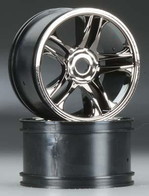 Traxxas Wheels Split Spoke Black Chrome Rear XO-1 (2)