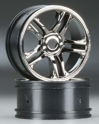 Traxxas Wheels Split Spoke Black Chrome Front XO-1 (2)