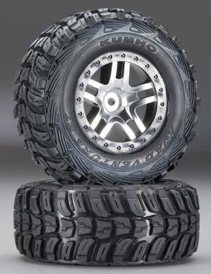 Traxxas Kumho Split-Spoke 4WD Fr/Re 2WD Re (2)