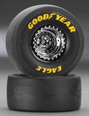 Traxxas Tires/Wheels Assembled/Glued Rear (2)
