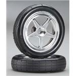 Tires & Wheels, Assembled, Glued (5-Spke, Chrme,Tires,Fr)