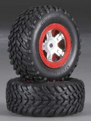 Traxxas Tires/Wheels Assembled Glued R&L