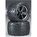 Traxxas Talon Tires/Gemini Whls Assmb VXL (2)