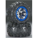 Traxxas Tires / Wheels Assembled Blue Beadlock 1/16 Summit