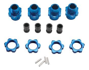 Traxxas Slash 4Wd 17Mm Wheel Hubs Blue Anodized