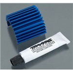 Heat Sink Velineon 380 Motor Brushless, Aluminum Blue-Ano