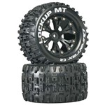 "Lockup MT 2.8"" Truck 2WD Mntd Rear C2 Blk (2)"