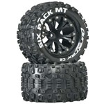 "Sixpack MT 2.8"" Truck 2WD Mntd 1/2"" Offset C2 Blk (2)"