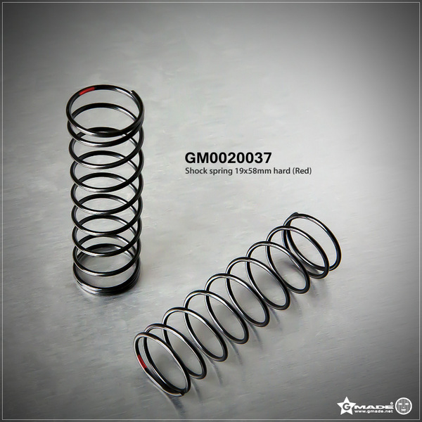 Gmade Gmade Shock Spring Hard Red 19X58mm (2)