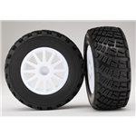 Traxxas Pre-Mounted BFGoodrich Rally Tire w/Rally Wheel (White) (2) (S1)