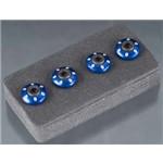 Wheel Nut Washer, Machined Aluminum, Blue / 3X12mm Cs (4)