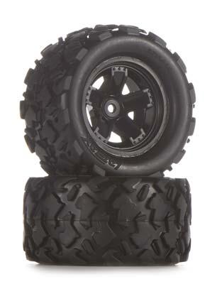 Traxxas Tires/Wheels Assembled Glued Teton (2)